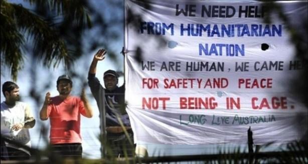 Detenidos en el Centro Regional de Procesamiento de Nauru [Foto vía Indymedia].