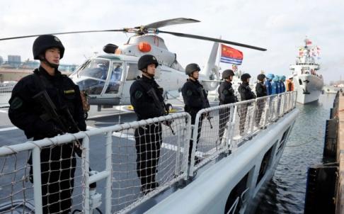 Demostración militar en el mar de China [Foto: Times Asi vía Flickr]