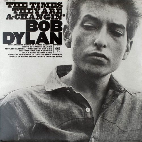 Foto: Portada del disco Times are changing de Bob Dylan vía Flickr