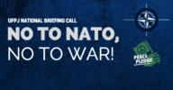 No to nato no to war briefing call ufpj