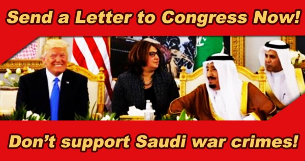 sending a letter to congress send a letter to congress no weapons to saudi arabia no 11006