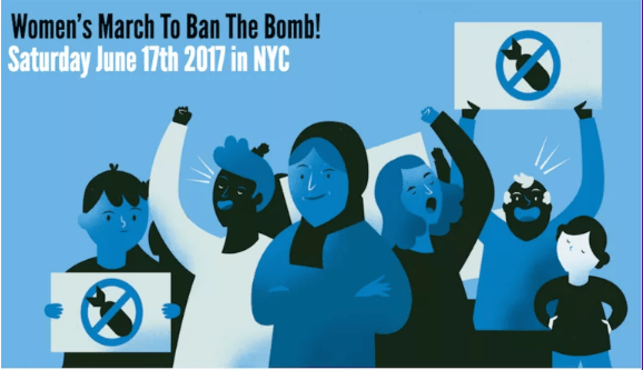women's march to ban the bomb united nations protest