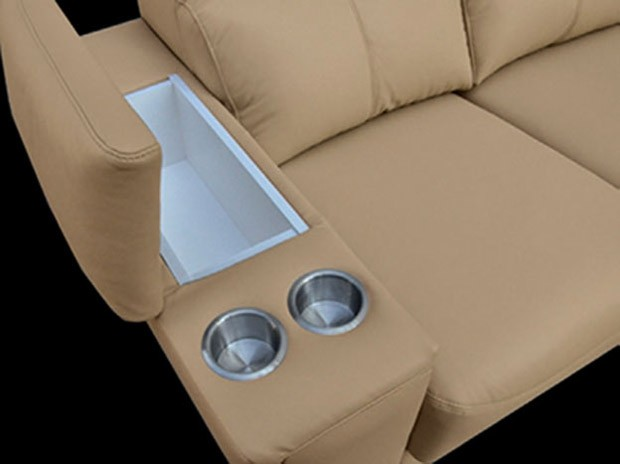 esf 8312 sectional sofa in beige with