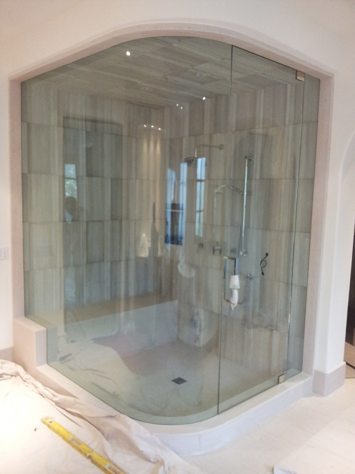 90 Degree Corner Frameless Enclosures United Glass Mirror