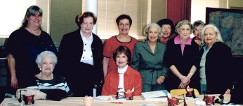 From left: (standing) Jan Chait, Allane Zucker, Estelle Corrigan, Beatzy Becker, Louise Sommers, Marian Abels, Alice Yalowitz, Evelyn Cutler. (Seated) Esther Russell, Sunny Cohen.