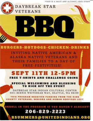 Veterans BBQ flyer