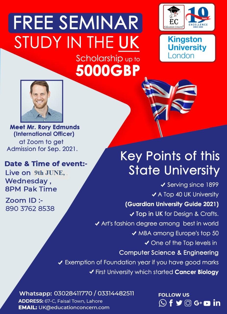 Seminar – Study in the UK
