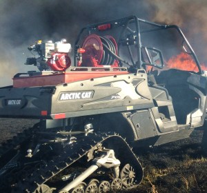 Artic Cat fire equipment utilized for prescribed fires.