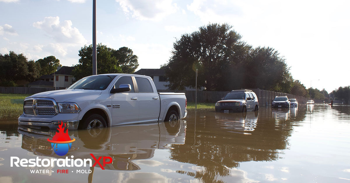 Emergency flood damage restoration in McKinney, TX