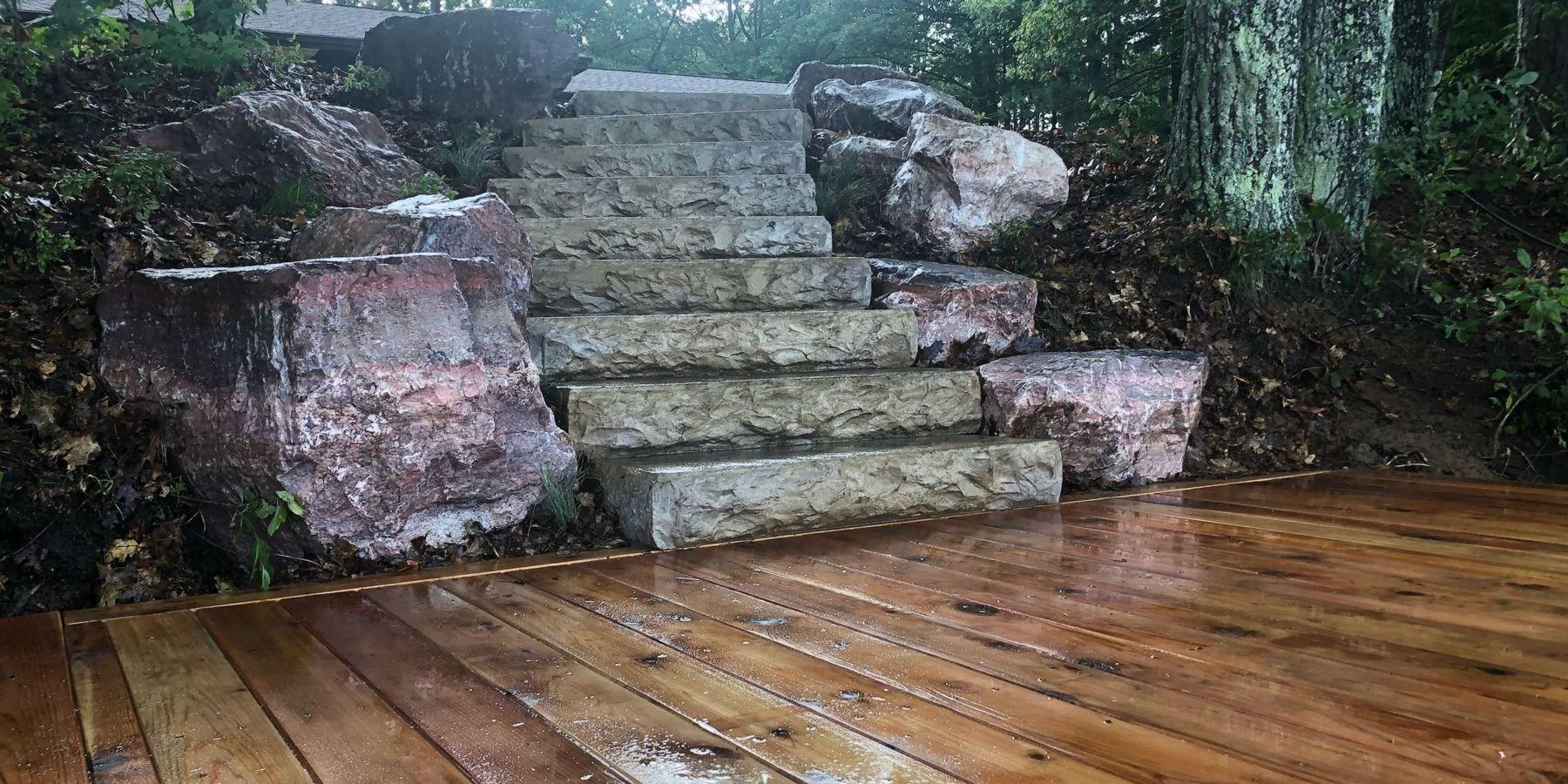 Stone Concrete Steps   Wood Over Concrete Steps   Building   Stair Stringers   Concrete Patio   Concrete Porch Makeover   Composite Decking