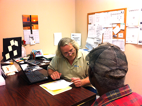Steve O'Neal, a RealSense tax site coordinator in Palatka, puts his accounting skills to good use helping others file their taxes for free.