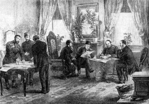 Semnarea Tratatului de la San Stefano, Turcia, 3 martie 1878 - foto preluat de pe istoria.md