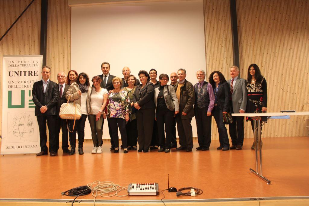 Roberto Giacobbo con i rappresentanti delle sedi UNITRE
