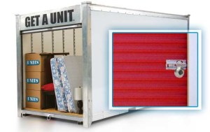 Units portable storage unit, ready for long term storage in Livermore, CA.