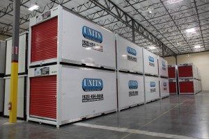 UNITS Storage containers at the local warehouse