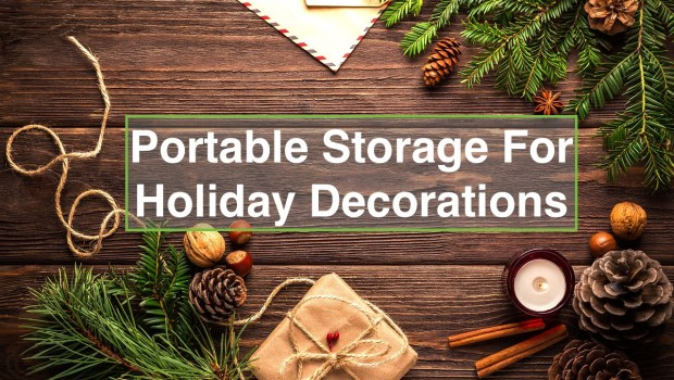 christmas background for portable storage for holiday decorations