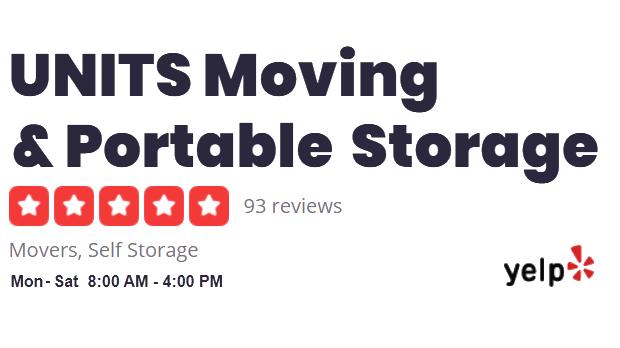 UNITS East Bay Yelp Ratings