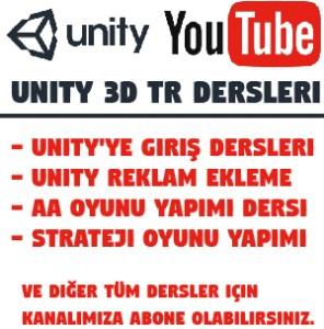 Unity dersleri youtube kanalı