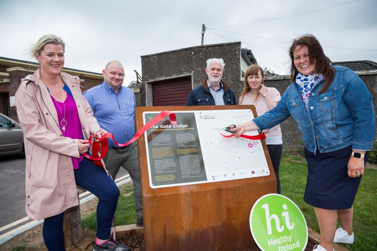 24 July 2019 Sorcha Ni Chrualaoich, Principal Community Worker Cork North Community Work Department; Priscilla Lynch, Head of Service Health and Wellbeing; Aidan Cullinane, Maintenance Manager; Noel Dempsey, Gurranabraher Mens Group Representative; Joanne McNamara, Community Worker Cork North Community Work Department, pictured at the launch of the Wellness Walk and Memory Trail in St Marys Health Campus, Cork.  Photo: Alison Miles / OSM PHOTO
