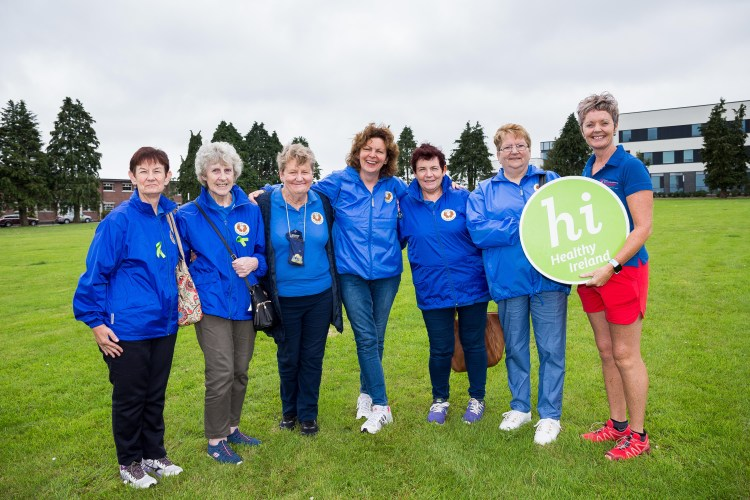 24 July 2019 Ann Long, Ella Hennesy, Pauline Wilson, Jacinta McCormack, Josephine Howard, Mary Foley; Fermoy Walkie Talkies and Shirley Lankford, Cork Sport Partnership. pictured at the launch of the Wellness Walk and Memory Trail in St Marys Health Campus, Cork.  Photo: Alison Miles / OSM PHOTO