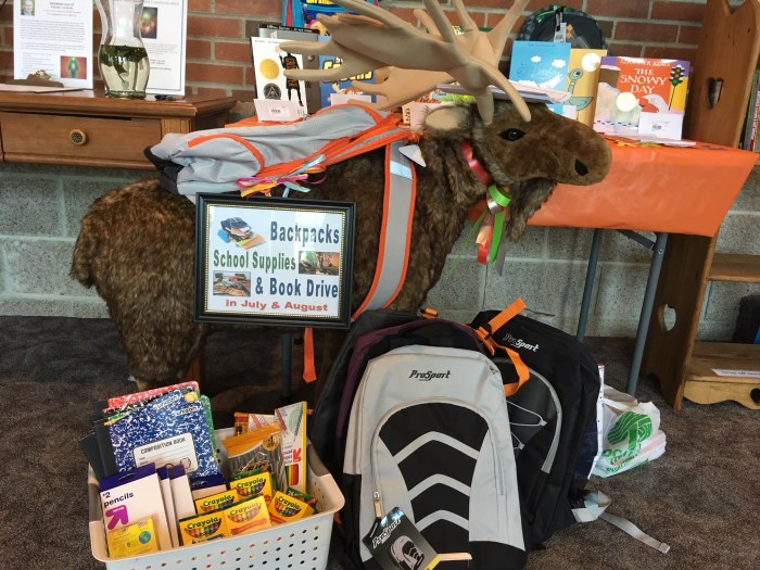 Backpack, School Supplies & Book Drive