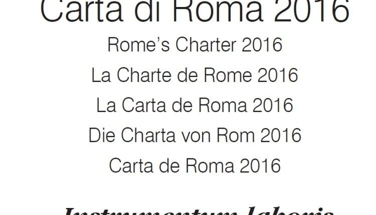 CARTA DI ROMA BANNER