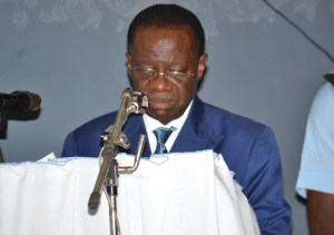 Minister of Higher Education,Chancellor of Academic Orders,Prof Jacques Fame Ndongo, during his installation speech