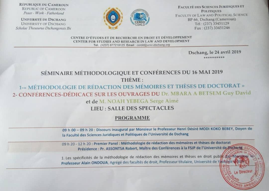 SeminaireMethodologiqueConference