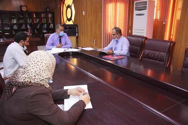 جلسة عمل مع نيابة المديرية للتنمية والاستشراف والتخطيط والتوجيه