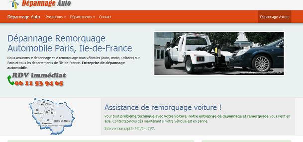 dépannage voiture en île de France