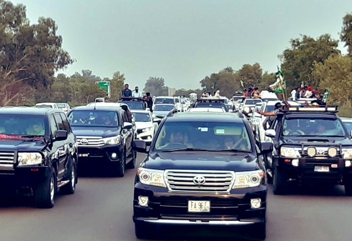 Maryam Nawaz car passed without paying toll tax at plaza