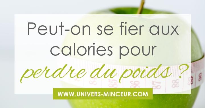 calories pour perdre du poids