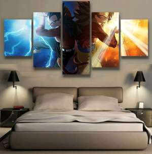 Décoration murale Dragon Ball GT Goku X Vegeta