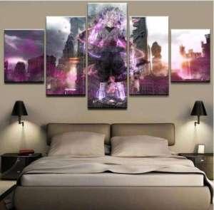 Décoration murale en 5 pièces Dragon Ball Super Black X Zamasu Destruction