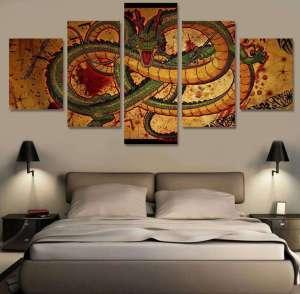 Décoration murale en 5 pièces Dragon Ball Z Fresque Shenron