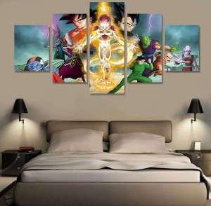 Décoration murale en 5 pièces Dragon Ball Z Super