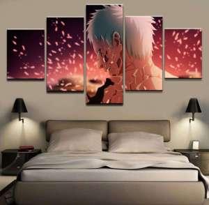 Décoration murale en 5 pièces Naruto Obito Death