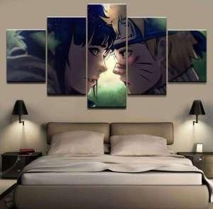 Décoration murale en 5 pièces Naruto X Hinata