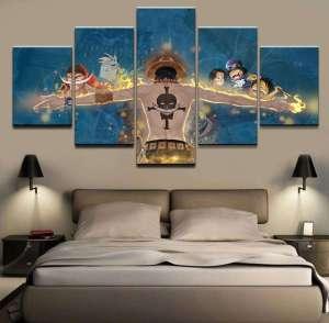 Décoration murale en 5 pièces One Piece Ace Destiny