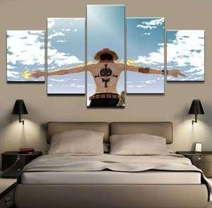 Décoration murale en 5 pièces One Piece Ace Sky