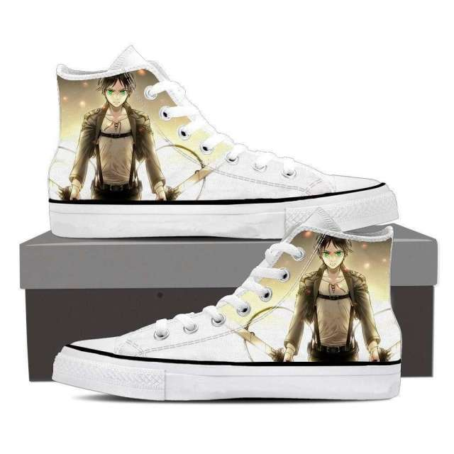 Chaussures Baskets L'attaque des titans Eren Jaeger