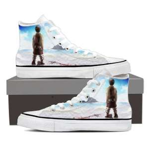 Chaussures Baskets L'attaque des titans Eren Sky
