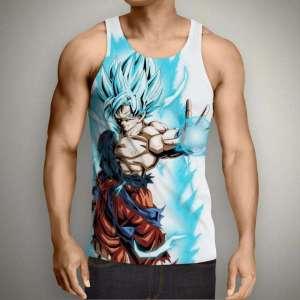 Débardeur 3D All Over Dragon Ball Super Goku SSJ Blue God