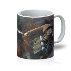 Mug Attack On Titans Mikasa Vs Colossal Titan