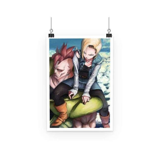 Poster Dragon Ball Z Cyborgs