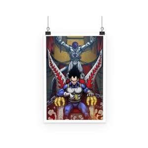 Poster Dragon Ball Z Vegeta Throne