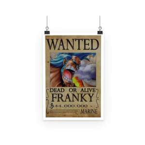 Poster One Piece Francky Wanted