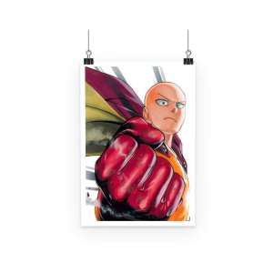 Poster One Punch Man Saitama Punch