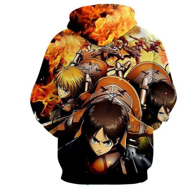 Pull à capuche 3D All Over Attack On Titans War