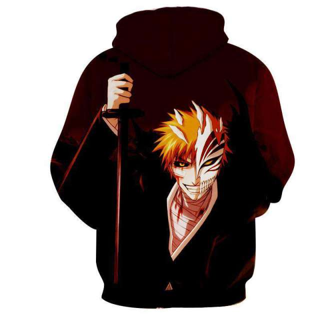 Pull à capuche 3D All Over Bleach Ichigo Hollow 2